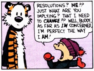 Calvin & Hobbes' take on New Years Resolutions